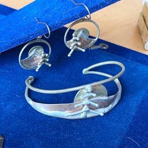 🍁5/$25🍁 Folkart Bracelet and Earring Set